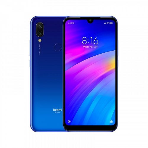 Смартфон Xiaomi Redmi 7 64GB/3GB Blue (Синий) — фото