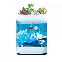 Аквариум аква-ферма Xiaomi Descriptive Geometry Mini Lazy Fish Tank (HF-JHYG005) White (Белый) — фото