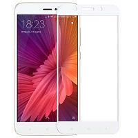 Защитное 2D стекло для Xiaomi Redmi 5 Plus White (Белое) — фото